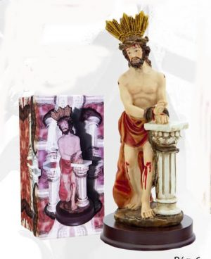 Figura Religiosa Cristo atado a la columna de 15 cm