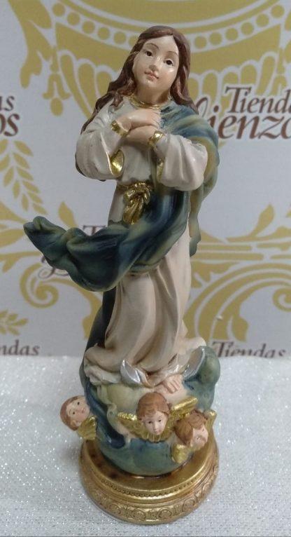 Virgen Inmaculada de 15 cm en base dorada