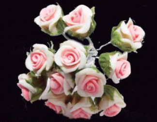 Flor de pasta de porcelana 12 unidades