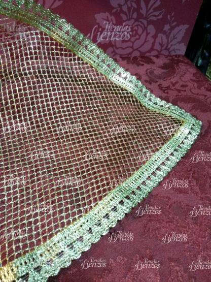 Toca de sobremanto para Virgen de 40-50 cm